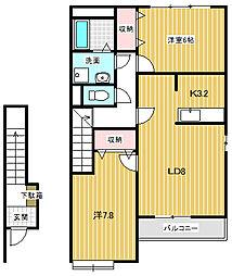 ディアハイムK(篠ノ井横田)[202号室号室]の間取り