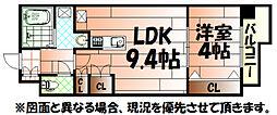 REGARIA KOKURAKITA レガリア小倉北[13階]の間取り