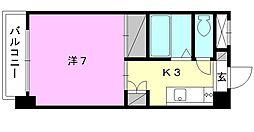 ジョイフル第3今市[705 号室号室]の間取り