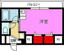 クレール住道[1階]の間取り