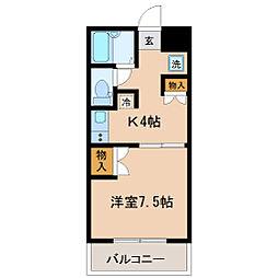 宮城県仙台市青葉区米ケ袋2丁目の賃貸マンションの間取り