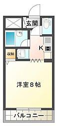 静岡県三島市大社町の賃貸マンションの間取り