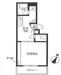 神奈川県藤沢市湘南台4丁目の賃貸マンションの間取り
