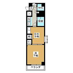 パルロイヤル東古松[3階]の間取り