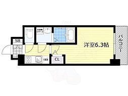 プロヴィスタ新大阪イーストゲート 3階1Kの間取り