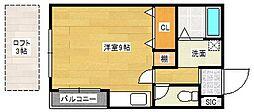 ハイステージ丸和[4階]の間取り