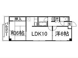 レジデンス鳥羽[5階]の間取り