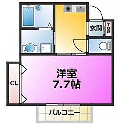東京都江戸川区篠崎町8丁目の賃貸アパートの間取り