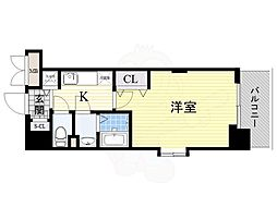 阪急京都本線 淡路駅 徒歩7分の賃貸マンション 14階1Kの間取り