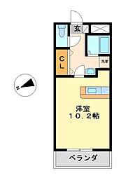 イエローシダー金山[2階]の間取り