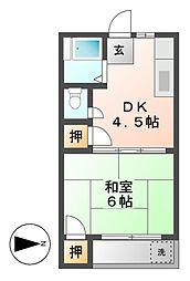 マンション松岡[2階]の間取り