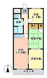 ロイヤルハイツ[1階]の間取り
