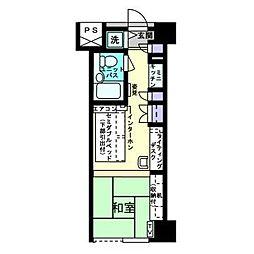 アルファコンフォート博多[5階]の間取り
