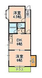 アーバンパレス横須賀[101号室]の間取り