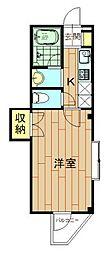 神奈川県川崎市中原区新城2丁目の賃貸マンションの間取り