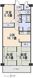 日興奈良公園スカイマンション[2階]の間取り