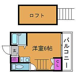 新大阪OM(オーエム)パレス[4階]の間取り