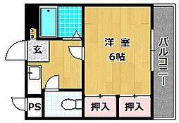 第8星ヶ丘マンション[4階]の間取り
