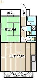 新町ハイツ[4階]の間取り