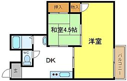 パウゼ喜連東[3階]の間取り