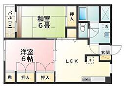 小宮キザキコーポ[3階]の間取り