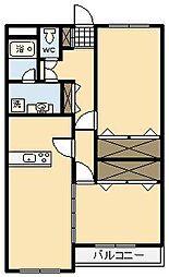 フェリオ[101号室]の間取り
