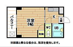 福岡県北九州市戸畑区北鳥旗町の賃貸アパートの間取り