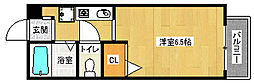 京都府京都市山科区大宅五反畑町の賃貸アパートの間取り