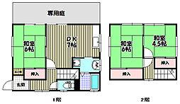 [一戸建] 大阪府富田林市向陽台5丁目 の賃貸【/】の間取り