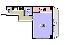 セブンフロアハイツ[6階]の間取り