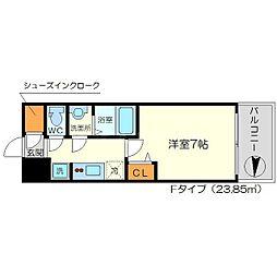 リッツ新大阪[8階]の間取り