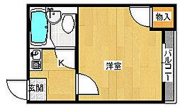 シャルマン岡山[1階]の間取り