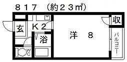 エマーユサンスイ藤井寺[301号室号室]の間取り