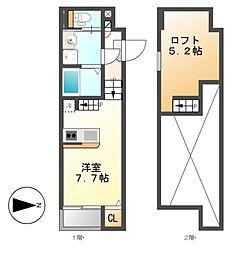クリークコート2[1階]の間取り
