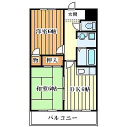 姫島第7ローズマンション[3階]の間取り