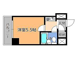 栃木県宇都宮市三番町の賃貸マンションの間取り