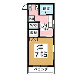 メゾンドショコラ[1階]の間取り
