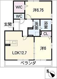 ル・クプル C棟[1階]の間取り