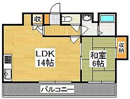 ミヤタマンション[1階]の間取り