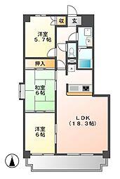 悠和苑[8階]の間取り