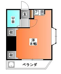 東京都北区神谷2の賃貸マンションの間取り