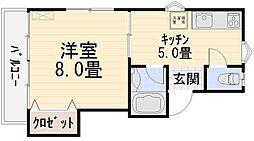円光寺サンハイツ[205号室号室]の間取り