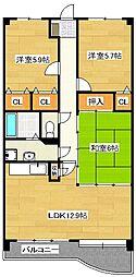 エンデバー武蔵[4階]の間取り