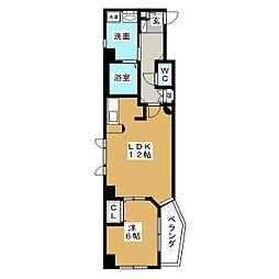 AHマンション泉[5階]の間取り
