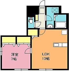 埼玉県上尾市上平中央1丁目の賃貸アパートの間取り