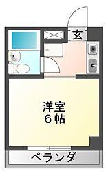 楽天地マンション[3階]の間取り
