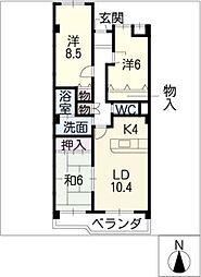 三和シャトー[3階]の間取り