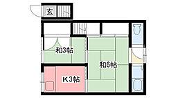 宮宇地ハイツ(南棟)[202号室]の間取り