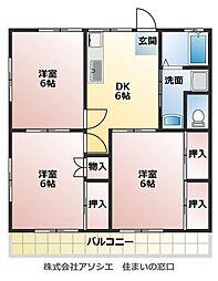 シャトレーハヤマ[2階]の間取り