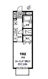 コンフォートA[102号室]の間取り